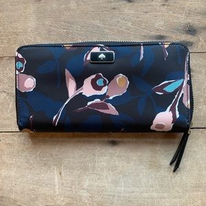 Large Continental Wallet Dawn Paper Rose Multi